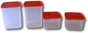 Tupperware Smart Storer Set (Set of 4)  - 5.4 L, 2.5 L Plastic Food Storage