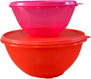 Tupperware Wonderlier Bowl -Set of 2 (1pc Each of 1.2L & 2.5L)  - 1200 ml, 2500 ml Plastic Multi-purpose Storage Container