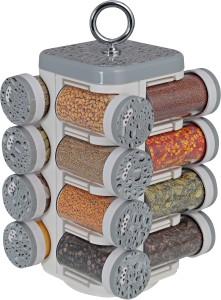 Disha Kitchen Mate 16 Jar (Grey Droplets)  - 100 ml Plastic Multi-purpose Storage Container