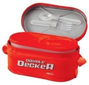Milton Double Decker lunch box  - 700 ml Plastic Multi-purpose Storage Container
