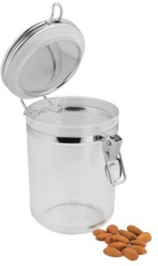 Dynore Round Acrylic Air Tight Container With Cup Lock  - 1000 ml, 750 ml, 400 ml Stainless Steel Multi-purpose Storage Container