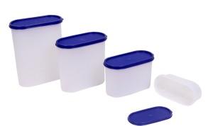 Tallboy Mahaware Space Saver Container 4pc Set (600-2400)  - 2400 ml Plastic Food Storage