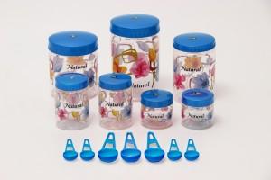 Sunshine Spectrum 7 Piece Kitchen Set Blue  - 250 ml, 500 ml, 1000 ml, 1500 ml, 2000 ml Plastic Food Storage
