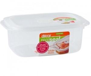 Decor Realseal Oblong 1.0 L  - 1000 ml Plastic Food Storage