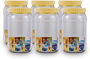GPET Round Jar - Set Of 6  - 1500 ml Plastic Food Storage