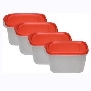 Tupperware  - 1100 ml, 1100 ml, 1100 ml, 1100 ml Plastic Multi-purpose Storage Container