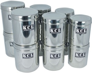 KCL 12 Deep Dabba Storage Containers  - 1300 ml, 1500 ml, 1800 ml, 1300 ml, 1500 ml, 1800 ml, 1300 ml, 1500 ml, 1800 ml, 1300 ml, 1500 ml, 1800 ml Stainless Steel Food Storage