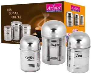Aristo Stainless Steel  - 450 ml, 350 ml, 250 ml Stainless Steel Tea, Coffee & Sugar Container