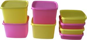 Tupperware Cool N Fresh (Set of 8)  - 800 ml, 250 ml Plastic Multi-purpose Storage Container