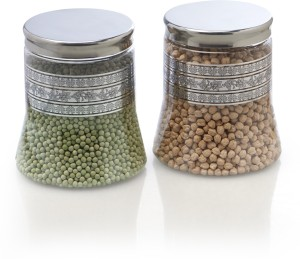 Steelo 2 Pieces PET - Belly  - 2000 ml Plastic Food Storage