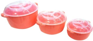 DCS Twist Cook-N-Serve High Quality Red Color 3pcs  - 1500 ml Polypropylene Food Storage