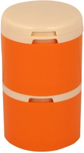 Tupperware Spice tower ( Orange and White) set of 1  - 190 ml Polypropylene Spice Container