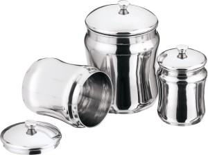 Aagam  - 1350 ml Stainless Steel Multi-purpose Storage Container