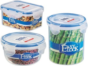 Easy Lock Stackable 100% Airtight & Leakproof, Reusable, Set of 3, BPA Free, FDA Approved  - 300 ml, 500 ml, 700 ml Polypropylene Multi-purpose Storage Container