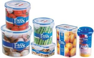 Easy Lock 100% Airtight & Leakproof, Set of 6  - 500 ml, 700 ml, 1250 ml, 1300 ml, 2000 ml, 630 ml Polypropylene Multi-purpose Storage Container