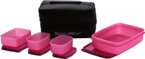 Signoraware Fortune Lunch Box  - 850 ml, 150 ml, 100 ml Plastic Food Storage