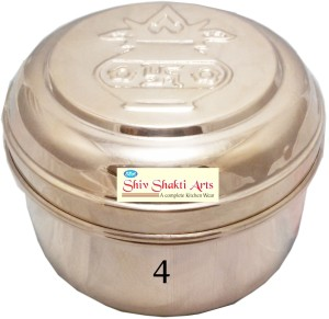 SSA Box No 4 With Klash on Lid  - 400 ml Copper Multi-purpose Storage Container