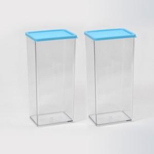Disha Marketing Disha 2 Pcs Transparent Container 1225 ml  - 1.225 L Plastic Multi-purpose Storage Container