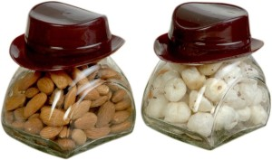 Glasified Hat King Brown  - 280 ml Glass Multi-purpose Storage Container