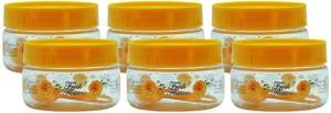 GPET Print Magic Container - Yellow - Set of 6  - 150 ml Plastic Food Storage