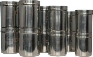 KCL Deep Dabba 12 Containers  - 1250 ml, 1250 ml, 1250 ml, 1250 ml, 1500 ml, 1500 ml, 1500 ml, 1500 ml, 1750 ml, 1750 ml, 1750 ml, 1750 ml Stainless Steel Food Storage