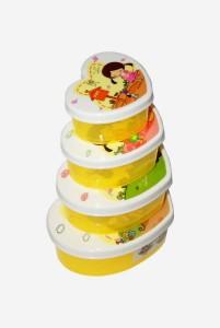 Blossoms  - 500 ml, 350 ml, 200 ml, 120 ml Plastic Multi-purpose Storage Container
