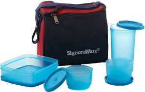 Signoraware Best Lunch with Bag  - 370 ml, 350 ml, 130 ml Plastic Food Storage