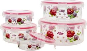 Styler Pink Floral Print  - 500 ml Polypropylene Multi-purpose Storage Container