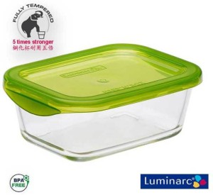 LUMINARC LUMINAR KEEP N BOX RECT . G6032   370 Ml Glass Food StorageClear