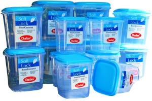 Chetan 14 Pc Plastic Kitchen Storage? Container Set  - 3000 ml, 2000 ml, 1250 ml Plastic Food Storage