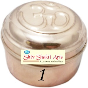 SSA Box No 1 With Om On Lid  - 100 ml Copper Multi-purpose Storage Container