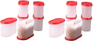 Tallboy Mahaware(microwavable) space saver Red lid  - 1200 ml Polypropylene Multi-purpose Storage Container