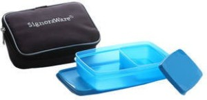 Signoraware Compact Lunch Box (Small) With Bag  - 600 ml, 150 ml Plastic Food Storage
