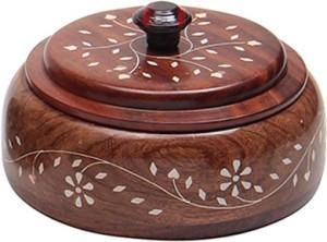Fab Handicraft  - 300 ml Wooden Multi-purpose Storage Container