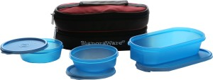 Signoraware Healthy Lunch Box (With Bag)  - 200 ml, 500 ml Plastic Food Storage