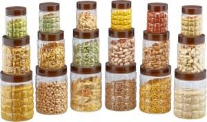 Steelo Steelo 18 pcs PET Container Set - 300ml x 6, 600ml x 6, 1200ml x 6 (Solitaire)  - 300 ml, 600 ml, 1200 ml Plastic Food Storage