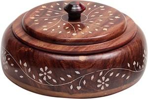 Fab Handicraft  - 350 ml Wooden Multi-purpose Storage Container