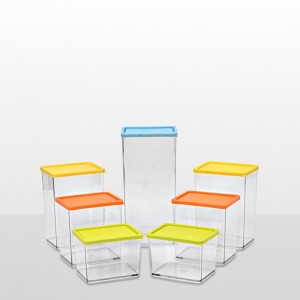 Disha Marketing Disha Transparent Container 7 Pcs Combo  - 0.8 L Plastic Multi-purpose Storage Container