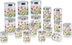 Steelo Garden Design  - 200 ml, 500 ml, 1100 ml Plastic Food Storage
