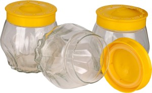 Somil Stylish Spice Container Set Of Three In New Transparent Design  - 620 ml Glass Multi-purpose Storage Container