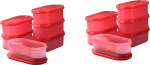 Tallboy Mahaware( microwaveable safe) space saver Candy Red  - 600 ml Polypropylene Multi-purpose Storage Container