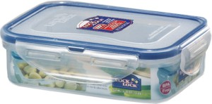 Lock & Lock Classics Rectangular Food with Leak Proof Locking Lid  - 360 ml Plastic Food Storage