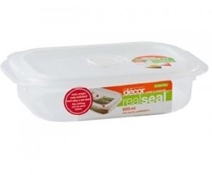 Decor Realseal Oblong 650 ml  - 650 ml Plastic Food Storage