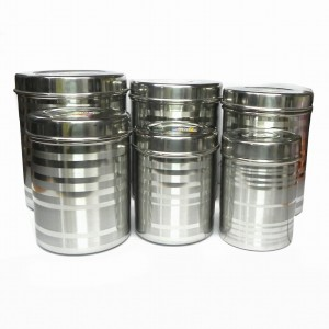 Aditya Info  - 2700 ml, 2100 ml, 1700 ml, 1300 ml, 1100 ml, 800 ml Stainless Steel Grocery Container