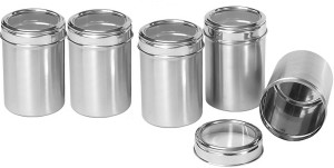 Dynore Kitchen Storage With See Through Lid  - 500 ml, 750 ml, 1000 ml, 1250 ml, 1500 ml Stainless Steel Food Storage