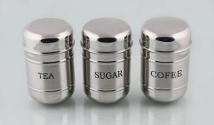Mayur Exports Tea, Sugar, Coffee Container  - 450 ml, 350 ml, 250 ml Stainless Steel Tea, Coffee & Sugar Container