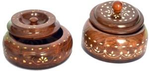 Woodino Handicrafts Masala Box Pro2  - 200 ml Wooden Multi-purpose Storage Container
