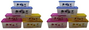 Nayasa  - 4000 ml, 2000 ml Polypropylene Food Storage