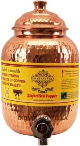 IndianArtVilla Copper Water Pot Tank Dispenser  - 2 L Copper Multi-purpose Storage Container