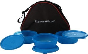 Signoraware Smart Lunch Box (With Bag)  - 620 ml Plastic Food Storage
